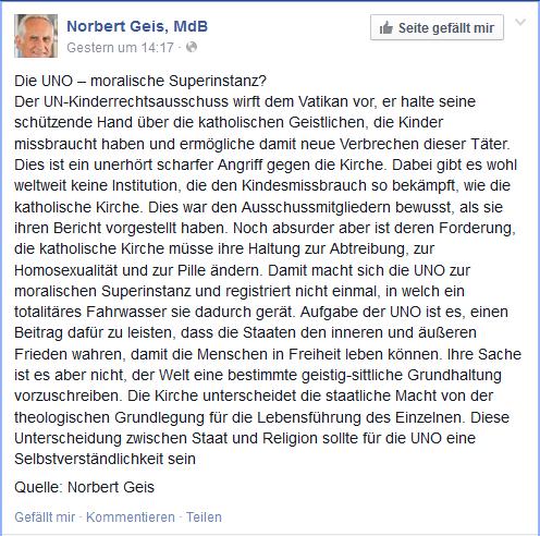 Norbert Geis hat Angst vor dem Fegefeuer
