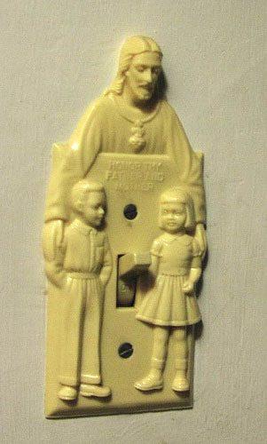 Ein sehr christlicher Lichtschalter. Lasset uns also Jesu Herz erfreuen, liebe Kinder!