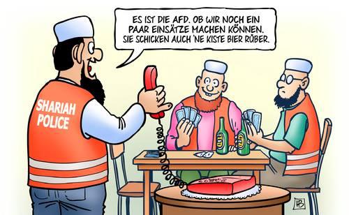 AfD bucht die Schreia-Bullizei